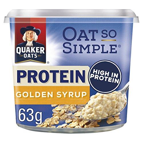 Quaker Oat So Simple Protein Golden Syrup Porridge Pots, 6*63 g.