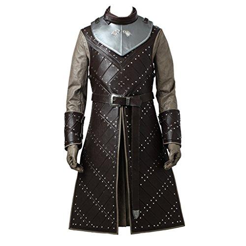 CosplayDiy Men's Cosplay Suit for Game of Thrones VII Jon Snow Cosplay Costume cm