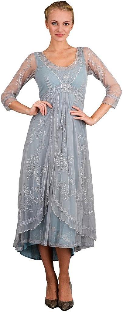 Nataya 40163 Women's Downton Abbey Vintage Style Wedding Gown in Sunrise