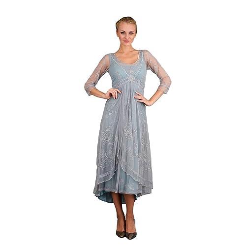 ff9d5cb8840 Nataya 40163 Women s Downton Abbey Vintage Style Wedding Gown In Sunrise