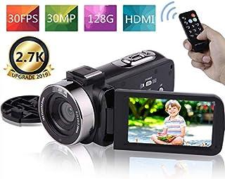 ビデオカメラ デジタルビデオカメラ FHD 2.7K 30FPS 30MP 16倍デジタルズーム タイムラプス スローモーション 3インチタッチパネル カムコーダー ブログカメラ 夜間カメラ 日本語メニュー+説明書
