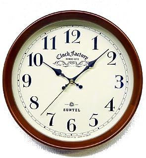 さんてる(Suntel) 掛け時計 ナチュラル Φ28.5×6.4cm