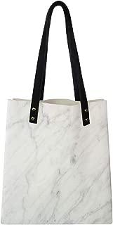 Women's Soft PU leather Tote Shoulder Bag, Carrara Marble Tile Surface Organic Sculpture Style Granite Model Modern Design,Big Capacity Handbag Hobo bag, Satchel Purse