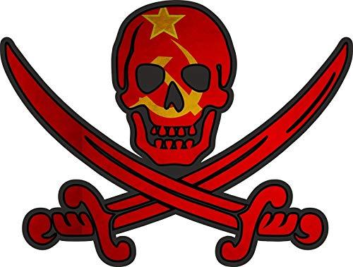 Sticker vlag Jack Rackham Sovjet-Unie URSS CCCP