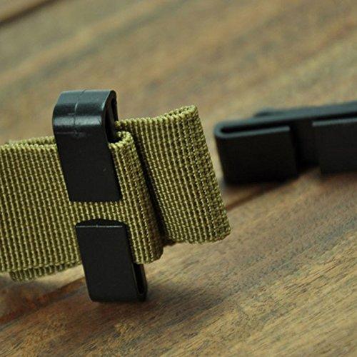 CXZC Molle Webbing_Buckle Strap Tactical Mochila Militar 25mm (1 '') Belt_End_Clip Ajusta la Bolsa del guardián