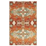 Mohawk Home Prismatic Eidenau Sunset Aztec Precision Printed Area Rug, 5'x8', Orange and Green