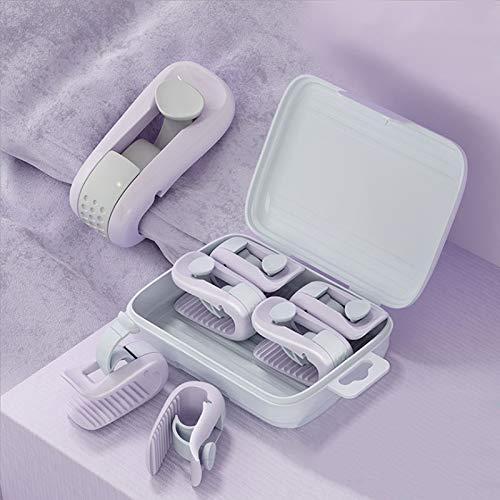 Lovecentral Bettdeckenbezug-Clips, Anti-Rutsch-Klemme ohne Nadel, 6 Stück violett