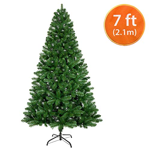 ANSIO Christmas Tree 7ft Artificial Trees Metal Stand...