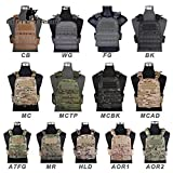 Elite Tribe - Chaleco táctico Militar de Combate CP Estilo AVS versión Pesada Cordura, Multicam Black