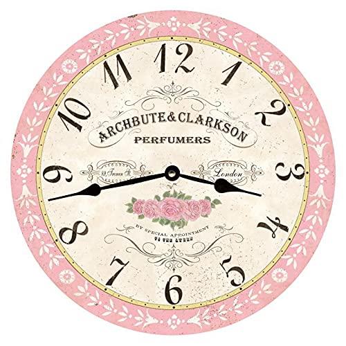 Reloj de pared digital silencioso clásico reloj de perfume fácil de leer para el hogar, la oficina y la escuela