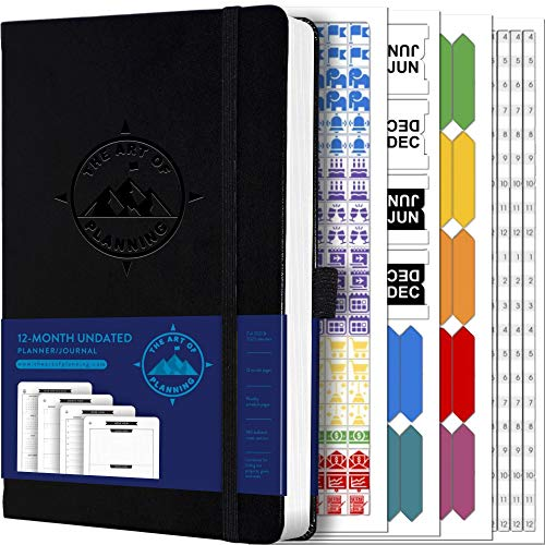 """Undated 12-Month Planner, Weekly Appointment Book, and 2021-2022 Calendar by The Art of Planning 