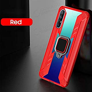 Fitted Cases - shockproof capa for Reno 3 pro case for Oppo Reno a9 2020 A11X F11 Pro back cover case car holder ring Full...