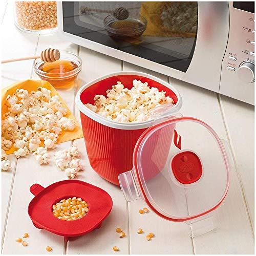 Snips Tempo Zero Popcorn Popper 1.5Litri Confezione Regalo, Rosso, Taglia Unica