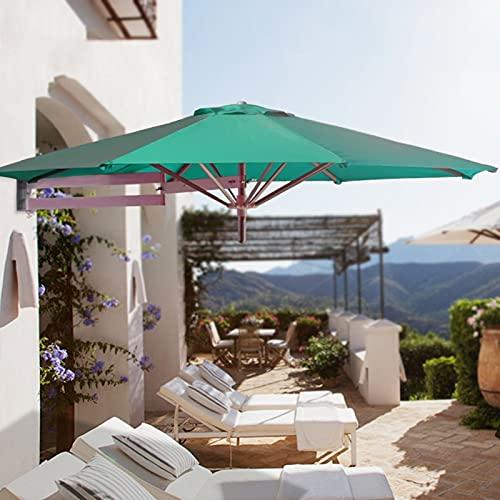 Lqdp Sombrilla Sombrilla de Pared para Patio, sombrilla de Mesa de Patio con Poste de Aluminio, protección UV, toldo de protección Solar al Aire Libre
