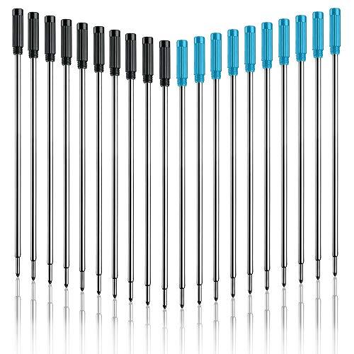 Kugelschreiberminen 20 Stück, Austauschbare Kugelschreiber Minen Metall Kugelschreiber Tinte Glatte Schreiben, Ersatz-Großraumminen Nachfüllungen für 4,5 Zoll Diamant Kristall Nadel Stifte