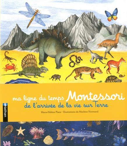 Ma ligne du temps Montessori - L'arrivée de la vie sur terre - Frise Montessori de 2,5 mètres - Dès 6 ans