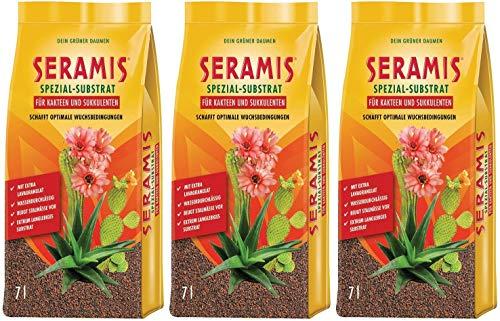 Seramis Granulado de arcilla como sustituto de tierra vegetal para cactus y plantas suculentas, sustrato especial, 21 litros