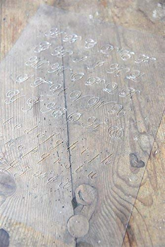 Jeanne d'Arc Living Vintage Stencil Corner Alphabet Shabby Italics Schablone