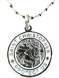 St. Christopher Surf Medal Necklace Pendant,...
