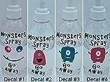 Monster spray Go Away Decal, Monster Spray Stay Away Label