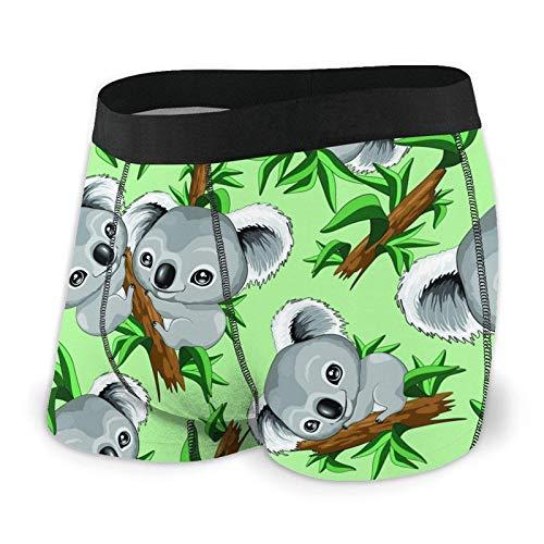 AOOEDM Koala Bears - Ropa Interior Transpirable para Hombre, Cintura elástica, Calzoncillos Tipo bóxer, Pierna Corta