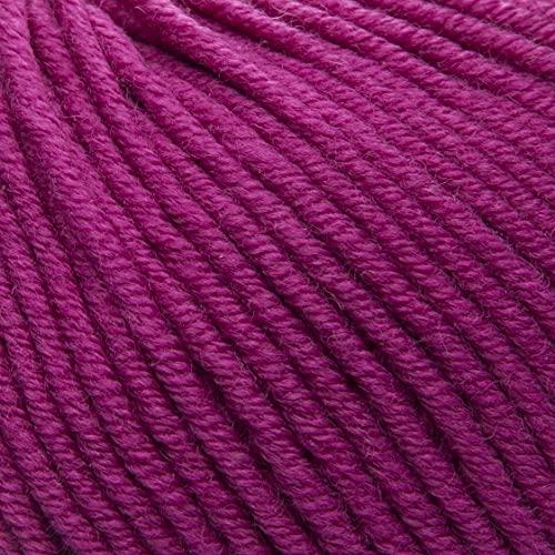 ggh Samson - Merino Wolle (mulesing Free) Lauflänge ca. 85m auf 50g - Wolle zum Stricken oder Häkeln - Farbe 050 - Fuchsiarot
