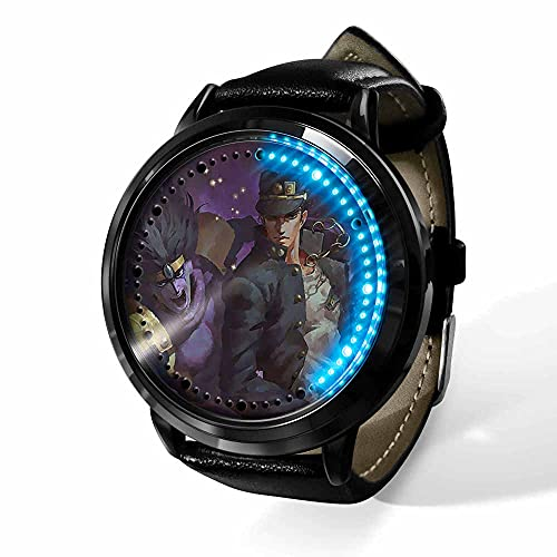 Anime JoJo's Bizarre Adventure Reloj Reloj Pantalla táctil LED Impermeable Luz Digital Reloj Reloj de Pulsera Unisex Cosplay Regalo Nuevos Relojes de Pulsera Regalo para niños-A