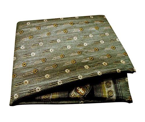 PEEGLI Frau Beiläufig Tragen Saree Grau Blumen Indisch Vintage Gedruckt Sari Polyester DIY Nähen Stoff