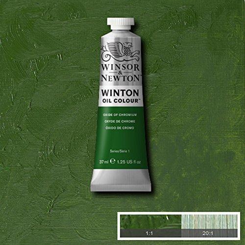 Winsor & Newton Winton Oil Paint Tube Artist Art 37ml & 200ml ALL COLOURS (Oxide Of Chromium, 37ml)