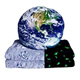 Pillow Blanket 2 in 1 Weird Stuff Blanket Glow in The Dark Blankets Sstronaut Planets for Kids Best Gifts for Teenagers Outer Space Throw Blanket for Boys Room 40' x 60'