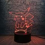 Elemento de moda decoración del hogar lámpara de mesa 3D LED USB ratón amarillo animal colorido degradado atmósfera niños colorida luz nocturna multicolor