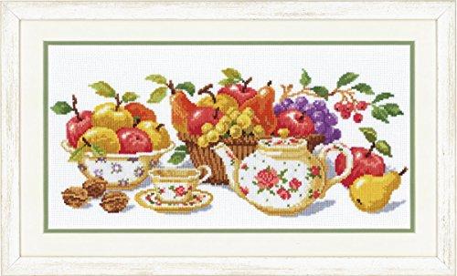 Vervaco 70.017 - Kit de Punto de Cruz contado (diseño con Mesa de té)