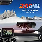 Car Heater,12V 200W Portable Upgrade Fast Heating Windscreen Fan & Cooling Car Fan Defroster Defogger 2 in 1