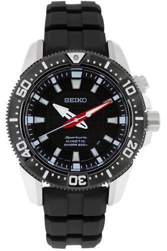 Seiko Herren-Armbanduhr XL Sportura Kinetic Diver's Analog Automatik Plastik SKA511P2