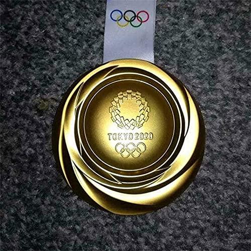 日本東京オリンピックメダル1:1レプリカ亜鉛合金素材ゴールド/シルバー/ブロンズメダルリボンメダルギフト2020オリンピック記念メダルレプリカ、東京オリンピックメダル、2020オリンピック記念品、メダル亜鉛合金素材ゴールド/シルバー/ブロンズメダルリボンギフトメダル。 (金メダル)
