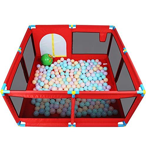 Meubles à chaussures Bébé Playpen Parc pour Bébé avec Tapis et Balle Océan, Extensions de Coins de Jeux pour Enfants Intérieur et Extérieur pour Enfants du Centre D'activités pour Bébés (Color : Red)