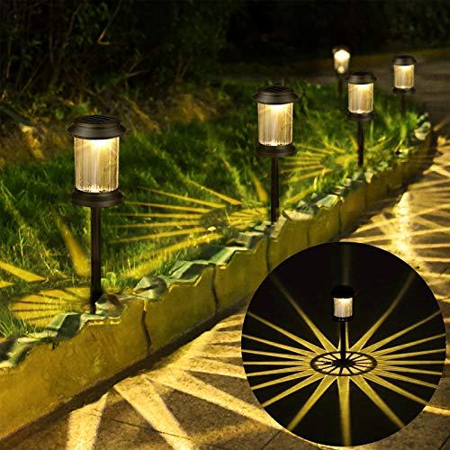 kdorrku Solarleuchten Garten Solar Garten Bodenleuchte Led Gartenleuchten Solar Solarleuchte Outdoor Solar LED-Leuchte, IP65 wasserdichte Outdoor Solarleuchte