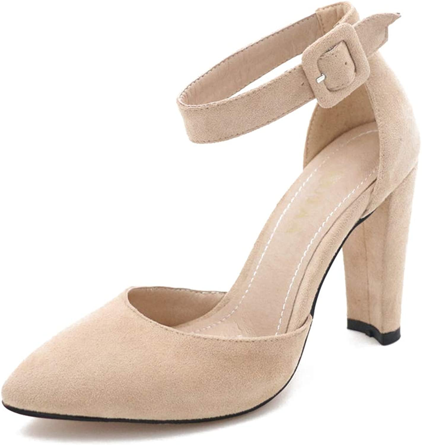 Ladies Sandals Wedding Party shoes Square High Heels Women Pumps Summer Pointed Toe Sandal
