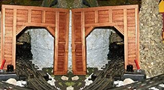 Model Railroad O Gauge Timber Frame Tunnel Portals - Set of 2