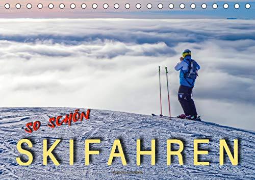 Skifahren - so schön (Tischkalender 2021 DIN A5 quer)