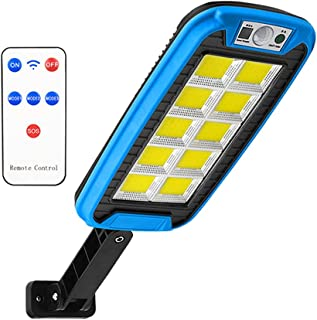 Smart Solar Street Lamp, Radar Sensor, Water Resistant, with Remote Control, Used for Outdoor Wall Lamp on Park Street (24...