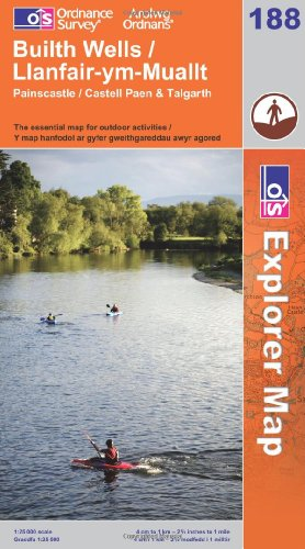 OS Explorer map 188 : Builth Wells / Llanfair-ym-Muallt