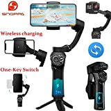 Snoppa Atom 3-Axis Foldable Pocket-Sized Handheld Gimbal Stabilizer for iPhone Smartphone GoPro, Wireless Charging, 310g Payload, Built-in Microphone Socket, with Mini Tripod