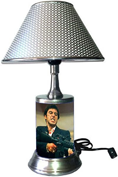 JS Scarface Lamp With Chrome Shade