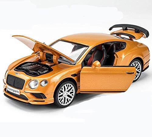 XYSQWZ Bentley Continental Alloy Car Modell Zurückziehen Spielzeugauto Heck Rennsportwagen Kinderwagen Junge Geschenk (Farbe: Orange)