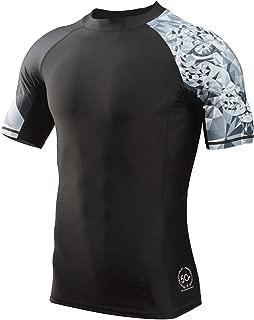 Men's Splice UV Sun Protection UPF 50+ Skins Rash Guard Short Sleeves