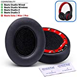 Premium Beats Studio Replacement Ear Pads by Wicked Cushions - Noise Isolation Adaptive Memory Foam | Upgraded Strong...