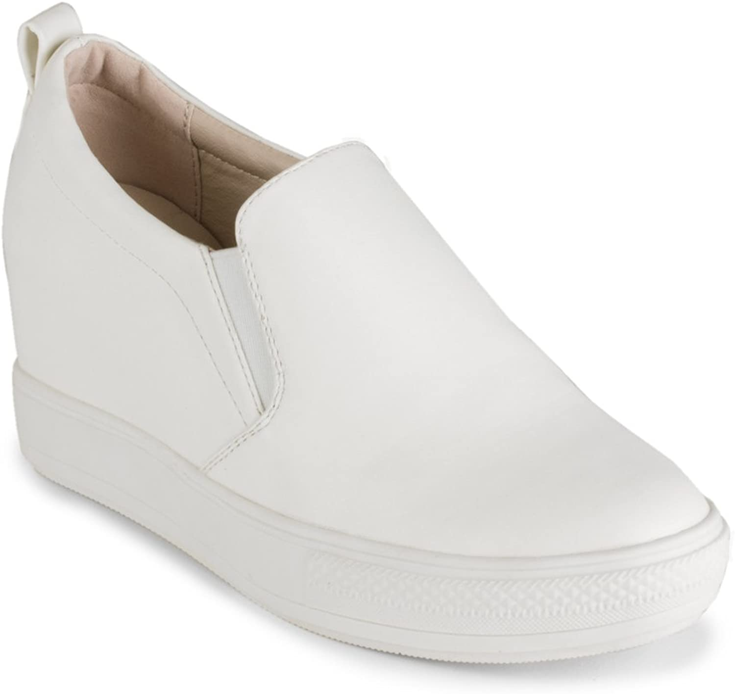 Wanted Womens Pocono White Wedge - 8