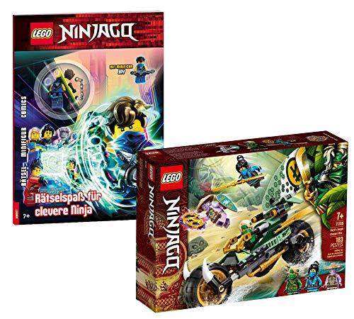 Collectix Lego Set – Ninjago Lloyds 71745 – Juego de bicicleta de la jungla + Ninjago diversión para el ingenioso ninja (cubierta blanda)