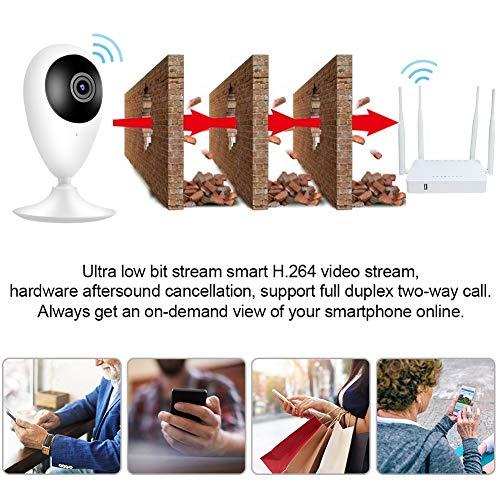 ROMACK Cámara de Seguridad 720P HD Cámara de vigilancia para el hogar para Seguridad en el hogar con detección de Movimiento(European Standard (100-240v), Transl)